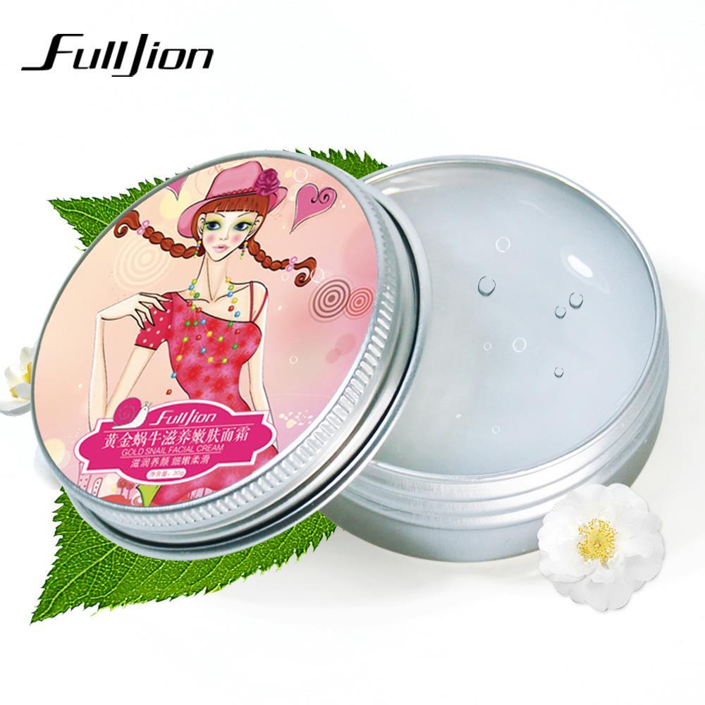 Fulljion Moisturizing Whitening Cream Snail Cream Face Care Anti-wrinkle Nourish Women Face Skin Care Treatment Cosmetics Makeup