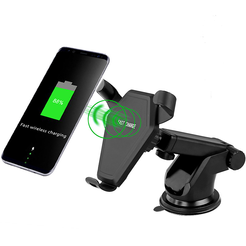 for iPhone X Qi Wireless Charger Fast Charging Car Charger for iPhone 8 Mobile Phone Charger with Car Holder for Samsung Galaxy