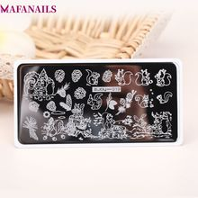 1 x ZJOY - Stainless Steel Stamping Plates Squirrel & Pine Nuts Patterns Nail Art Nails Template Stamp 19