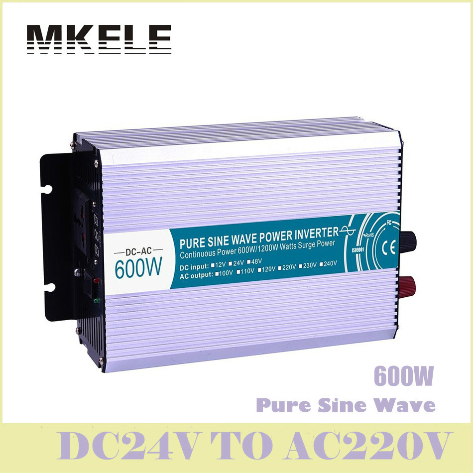 High Quality MKP600-242 600w Inverter 24V DC To 220V AC Pure Wave Micro Voltage Converter Solar Wind Power China ultra boost free shipping 600w wind grid tie inverter with lcd data for 12v 24v ac wind turbine 90 260vac no need controller and battery