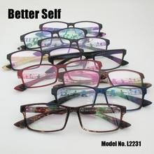 Better Self L2231 Women Men Eyeglasses Frame Light Fashion Glasses Vintage Rectangle Eyewear Optical Spectacles oculos de grau