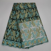 2018 Promotion Aqua Green African Lace Fabric For Party Dress Good Looking Fashion French Net Lace Fabric For Sewing Material 30