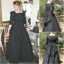 Historical!Customer-made Black Victorian dress 1860s Civil war Dress Scarlett Theater Costume Halloween Renaissance Dress V-485