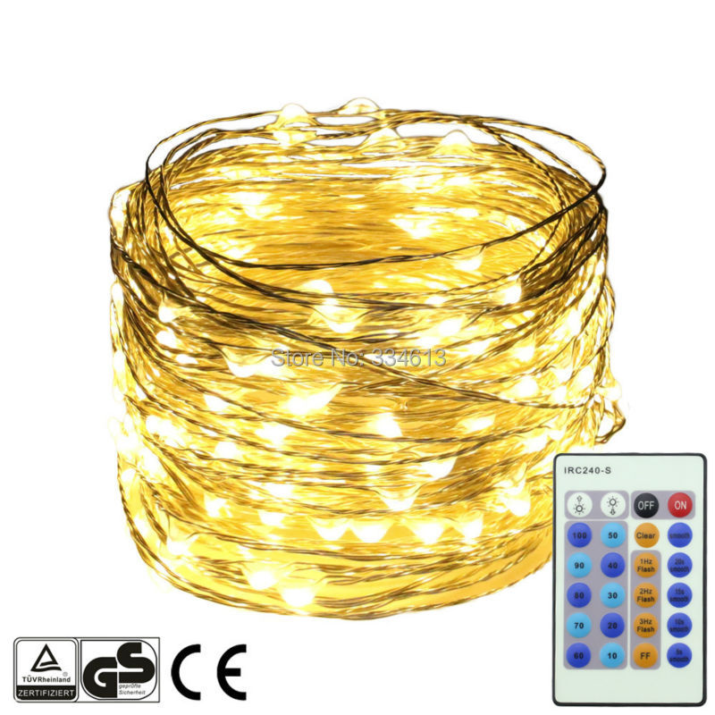 20M/66FT 200LEDs Silver Wire Dimmable Flash LED Starry String Lights Remote Control Christmas Holiday Fairy Lights+UL CE Adapter