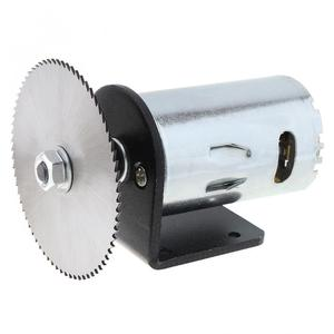Image 3 - 24 فولت 555 موتور الجدول المنشار عدة مع الكرة تحمل تصاعد قوس و 60 مللي متر شفرة المنشار لقطع/تلميع