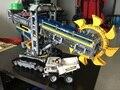 2017 nueva leping 20015 serie técnica 3929 unids de rueda de cangilones excavadora modelo diy bloques de construcción ladrillos compatibles 42055