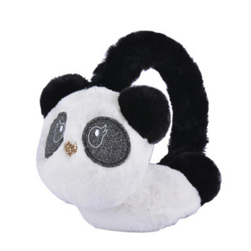 Winter Autumn Warm Faux Fur Cute Panda Earmuff For Girls Ladies Plush Ear Muffs Women AD0607