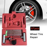 57Pcs Car Tire Repair Tool Tire Repair Kit Studding Tool Set Auto Bike Tubeless Tire Tyre Puncture Plug Garage Car Accessories