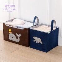 Felt Trolley Storage Box Cloth Dressing Box Wardrobe Clothes Storage Basket Children's Toys Storage Box