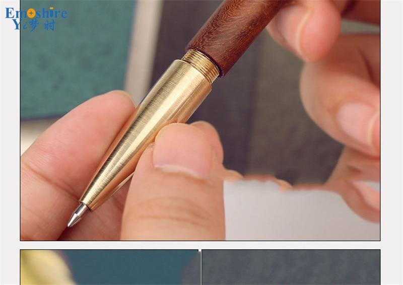 Criativa Caneta Esferográfica de Bronze material de