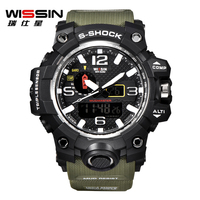 Brand WISSIN Men Watches Luxury S Shock Outdoor Sport Watch Man LED Digital Quartz Watch Army