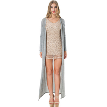 Thin Knitted Long Sleeve Cardigan
