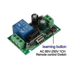 Image 4 - Qiachip 433 mhz interruptor de controle remoto sem fio ac 85 v 110 v 220 v 1ch relé 433 mhz módulo receptor aprendizagem luz controlador da lâmpada