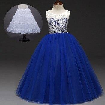 672646ef0 Flor largo baile chicas adolescentes ropa menta melocotón azul Royal boda Vestido  noche vestido de fiesta para niñas de 5 a 11 12 13 14 15 16 años