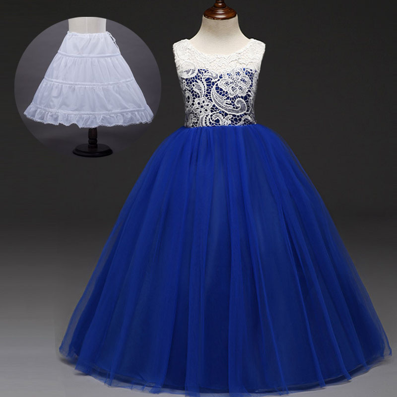 Detail Feedback Questions about Flower Long Prom Teenage Girls Clothing  Mint Peach Royal Blue Wedding Dress Evening Party for Girls 5 To 11 12 13  14 15 16 ... 7329a6bbe