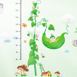 new 2 piece home decor Child real peas height wallpaper kids baby ofhead chiban wallstickers  wallpaper kids baby