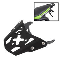 LJBKOALL Motorcycle Black Rear Luggage Top Rack Carrier for Kawasaki Ninja 650 ER6N ER6F 2012 2013 2014 2015 2016