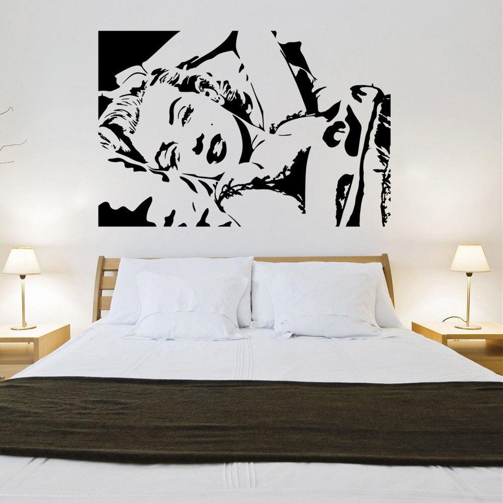 Deco Chambre Maryline Monroe € 13.6 |marilyn monroe avatar vinyle sticker home decor chambre personnes  célèbres art mural papier peint stickers muraux dans stickers muraux de