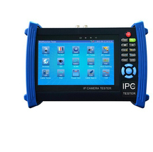 7 pulgadas HD 6 en 1 CCTV del monitor tester IP AHD CVI TVI SDI analógico multímetro onvif 1080 p fibra óptica Visual fault locator TDR