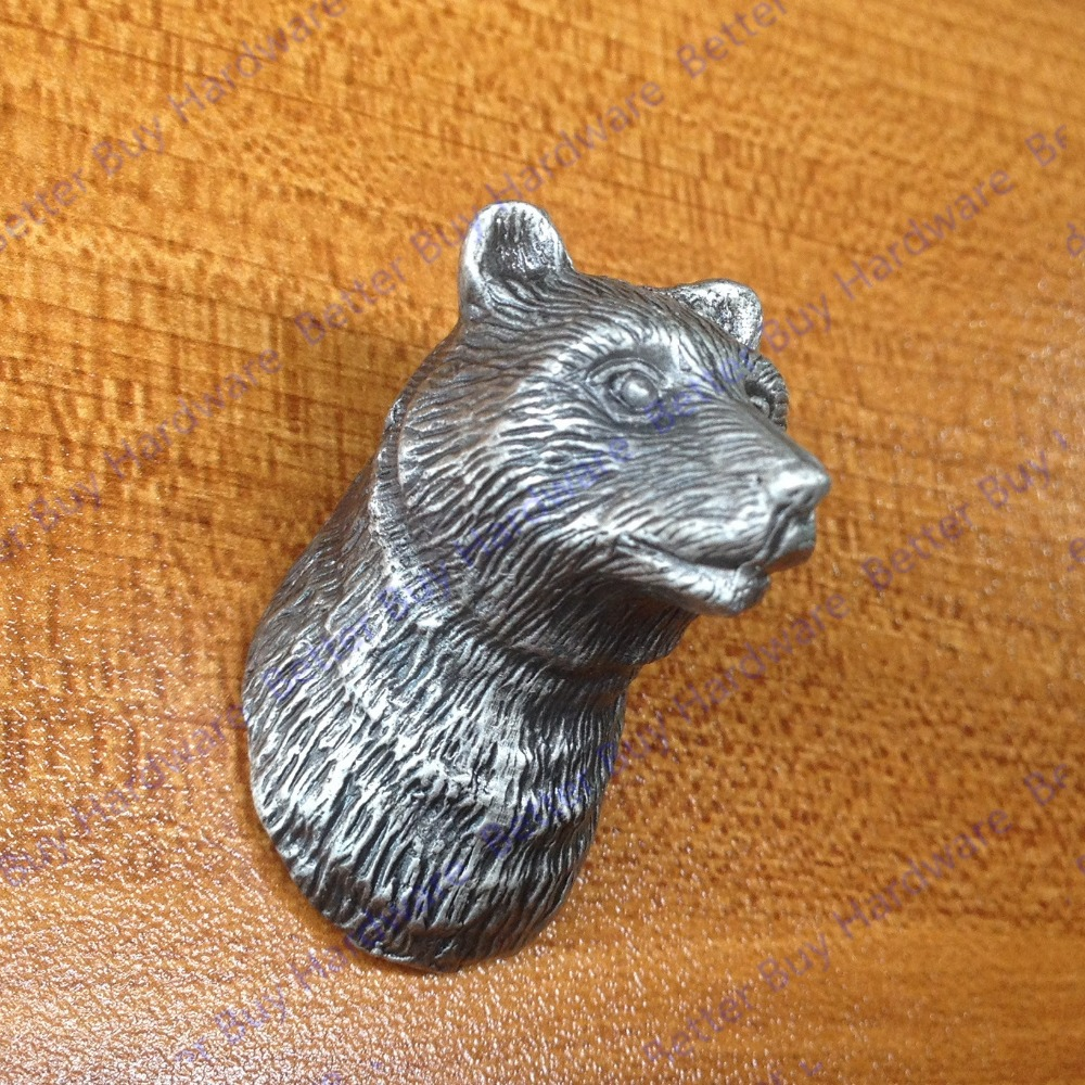 New classical European contracted style simple cupboard door drawer knobs ancient silver furniture handle/bear pulls candy color bear ceramic drawer handle for children lovely furniture fittings