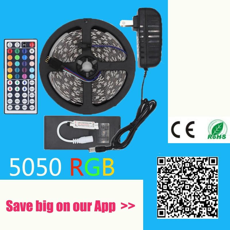 IP65 Vattentät RGB LED-remsa Fiexble Light 5050 SMD 60LED / M 5M DC - LED-belysning