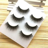 3Pairs Sexy New Fashion 3D Handmade Long Thick Cross Messy Extension Eyelashes Natural Soft False Eyelashes Makeup Tool Beauty False Eyelashes