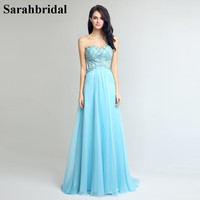 Charming Ever Pretty Prom Dresses 2017 With A Line Strapless Backless Floor Length Tulle Crystal Sequins