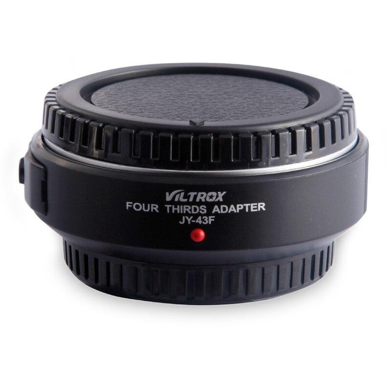 Viltrox JY-43F Autofocus Adaptateur de Monture D'objectif pour Quatre Tiers 4/3 lentille à Olympus Panasonic Micro 4/3 DSLR Caméra E-PL3 GH4 G5