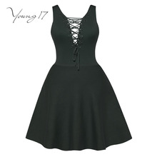 Young17 bodycon dress green mini knitted sweater straps v neck school dress female sexy beauty bodycon