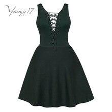 Young17 Bodycon платье Зеленый Мини вязаный свитер ремни с v-образным вырезом школьное платье женские пикантные красоты Bodycon Новые Вязаные платья для девочек