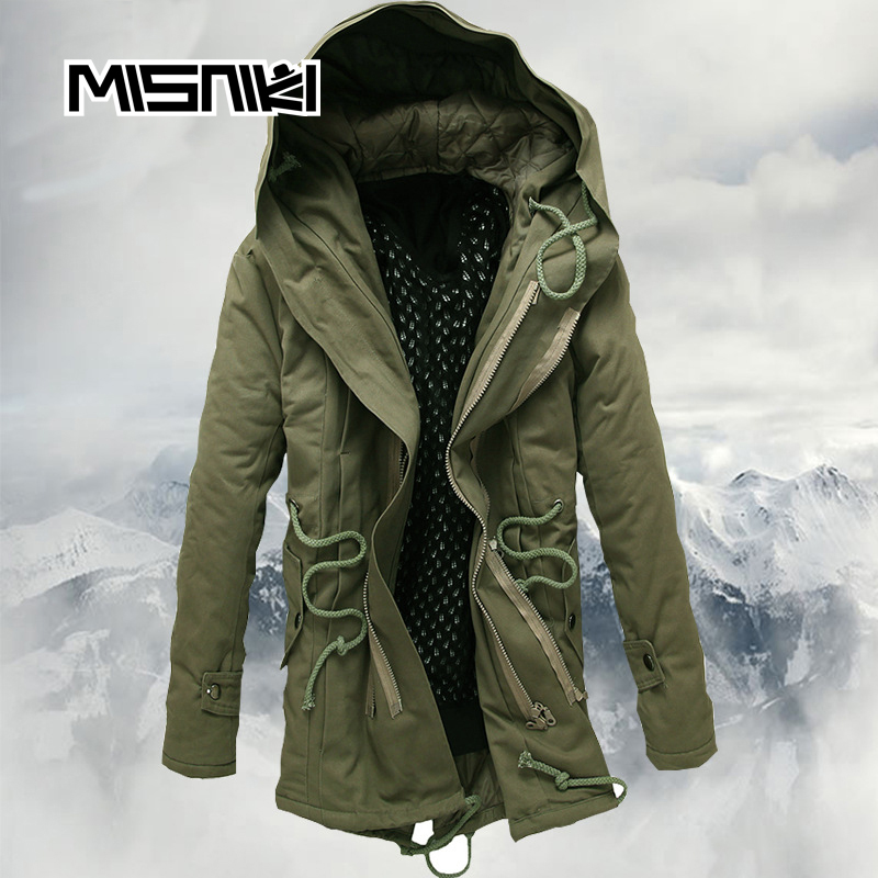 MISNIKI 2017 Hot Fashion Autumn Winter Jacket Coat Men Casual Slim Hooded Parka Men men fashion autumn and winter men s hooded leisure sweatshirt