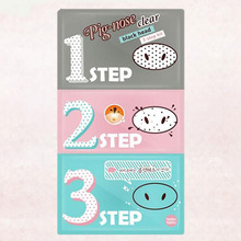 New Holika Pig Nose Mask Remove Blackhead Acne Remover Clear Black Head 3 Step Kit Beauty Clean Face Care MR0015