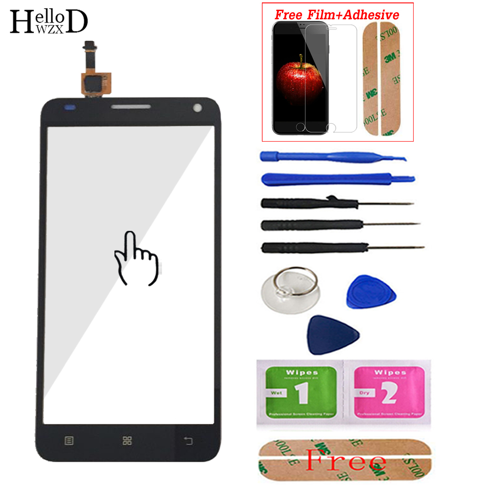 5.0'' For Lenovo S580 S 580 Touch Screen Glass Digitizer Panel Front Glass Lens Sensor Tools Adhesive +Screen Protector Gift