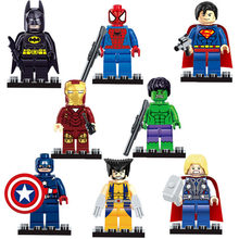8pcs/lot The Avengers Justice League Super Hero Baby Hulk Captain America Superman Batman Thor Lron Man Action doll Figures Toys(China)