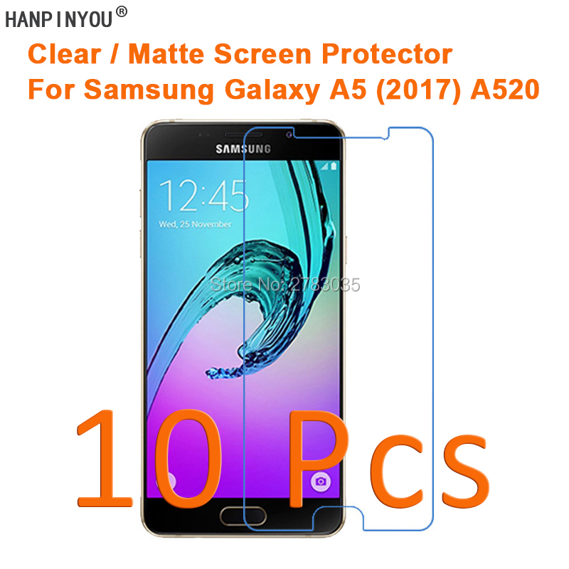 10 Pcs HD Clear/Anti-Glare Matte Screen Protector For <font><b>Samsung</b></font> Galaxy A5 (2017) <font><b>A520</b></font> Protective Film Guard (Not Tempered <font><b>Glass</b></font>) image