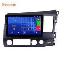 Seicane 10,1 Android 6,0 Quad core Автомобильный мультимедийный плеер радио gps Navi для 2006 2011 HONDA CIVIC правый HD 1024*600