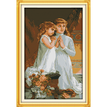 Everlasting love Pray Chinese cross stitch kits Ecological cotton stamped 14 11CT DIY Christmas gift wedding decoration for home