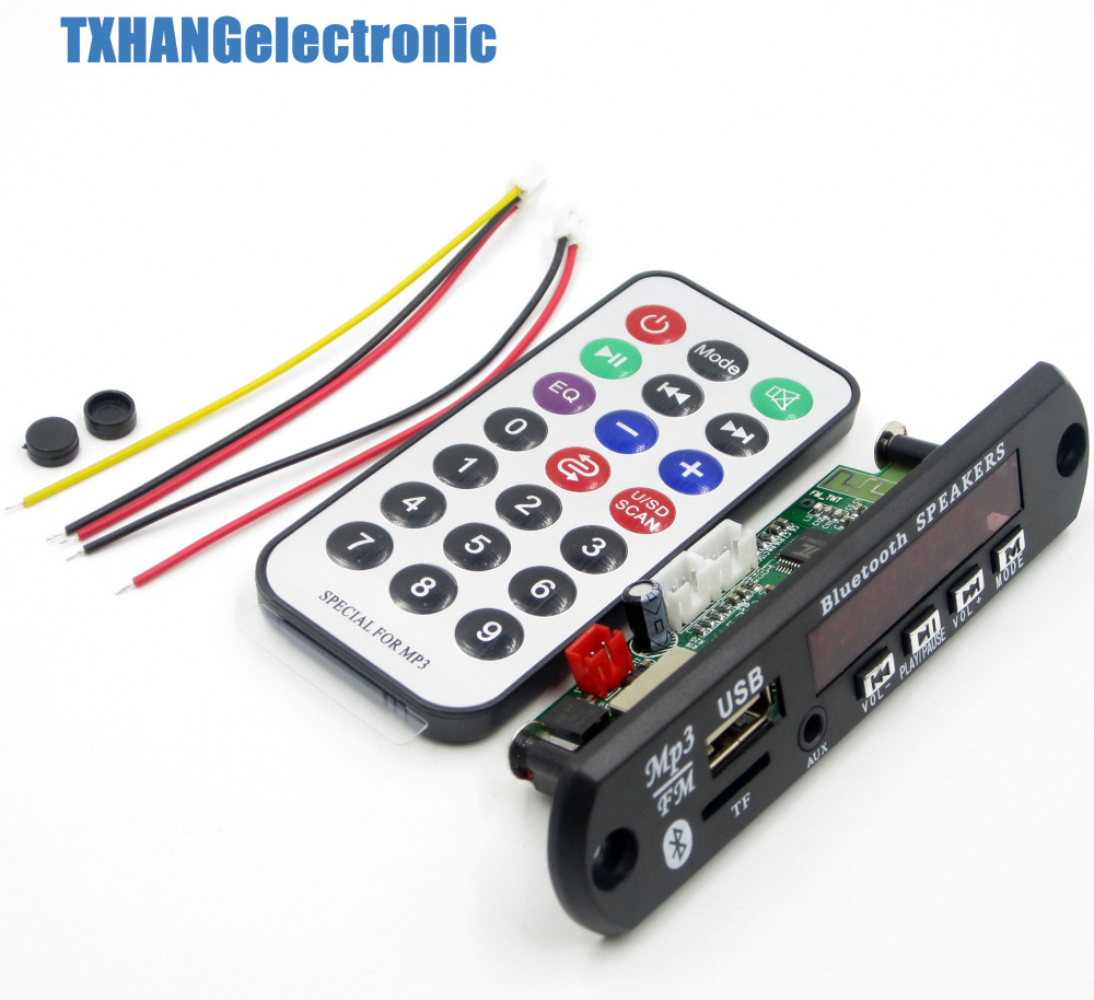 Wireless Bluetooth 12V MP3 WMA Decoder Board Audio Module USB TF Radio For Car