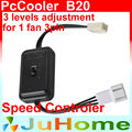 Pc cpu controlador da velocidade do ventilador 12 v reduzindo o ruído para 3 pinos de ajuste do nível de controle de velocidade do ventilador 3 100% 85% 70%