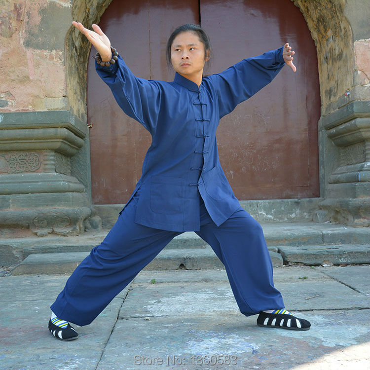 Chinese men women kung fu clothes high-grade tai chi clothing tai chi martial arts performance uniforms Wudang clothing 2016 chinese tang kung fu wing chun uniform tai chi clothing costume cotton breathable fitted clothes a type of bruce lee suit