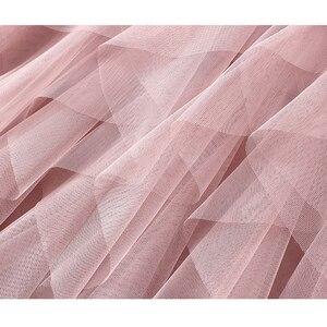 Image 4 - TIGENA Fashion Tutu spódnica z tiulu damska długa, maksi spódnica 2020 koreański śliczne różowe wysokiej talii plisowana spódnica kobieta szkoła słońce spodnica