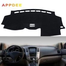 APPDEE รถแดชบอร์ดฝาครอบ DashMat สำหรับ Lexus RX RX300 RX330 RX350 2004 2006 2007 2008 2009 Non slip sun Shade Pad พรม Anti Uv