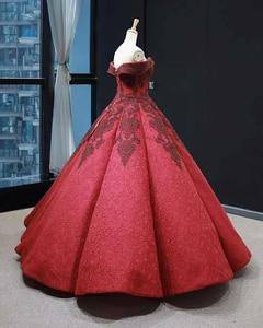 Image 4 - J66859 jancember inchado luxo vestido de noite 2019 querida vermelho frisado vestido de noiva vestidos vestido de noivado robe fiançaille