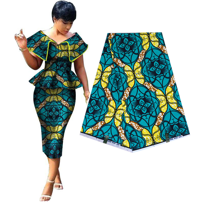 Africa Ankara Prints Wax Fabric JAVA Wax Guaranteed Real Dutch Wax 100%  Cotton Best Quality Sewing Material For Dress 6yards