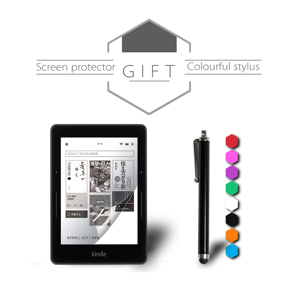 Cover Case for Amazon Kindle Voyage 6 inch eReader Transformer PU Leather  Case + Screen Protector film + Stylus Pen