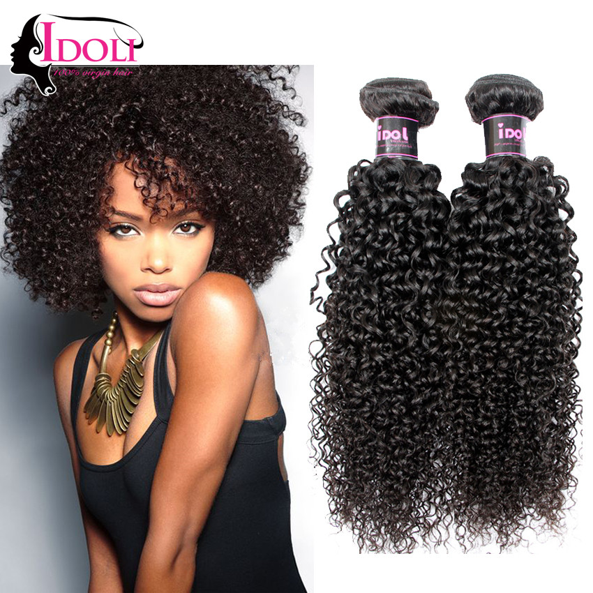 Sweet Curly Hairsytle By Clip On Black Remy Hair Extension