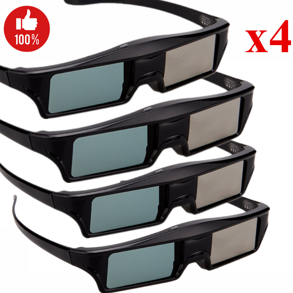 4pieces/lot HD Bluetooth RF Active Shutter Type 3D Glasses for Samsung Panasonic EPSON 3D TVs Sony Android TV