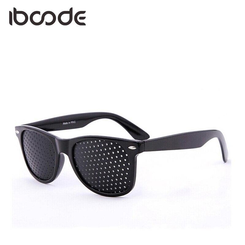 Iboode Pinhole Glasses Eye Care Eyesight Improver Black