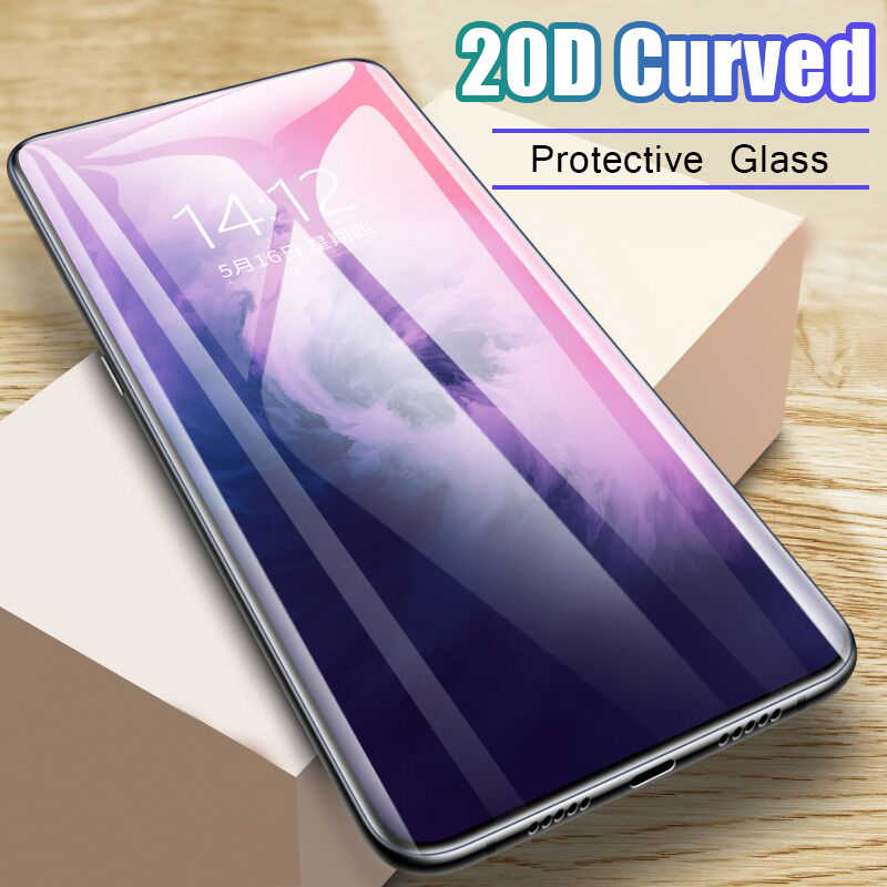 20D Curved Full Protective Glass On The For Oneplus 7 Pro 6t 5t Screen Protector Film For Oneplus 5 6 7 Pro Tempered Glass Cover