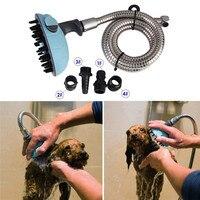 ראש מקלחת אמבטיה לחיות מחמד כלב חתול משולבת עיסוי שמפו מרסס